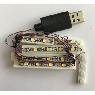 LED Beleuchtung für Klemmbausteine