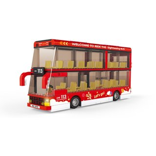 Wange 5970 Intercity Doppeldecker Sightseeing Bus Klemmbausteine