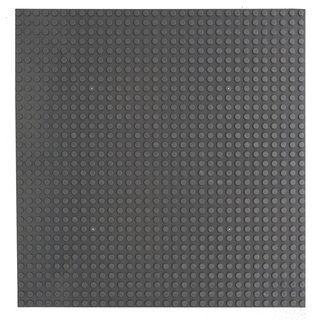 Klemos KL-20051 Klemmbaustein Grundplatte 32x32 Dunkelgrau beidseitig (25cmx25cm) Klemmbaustein