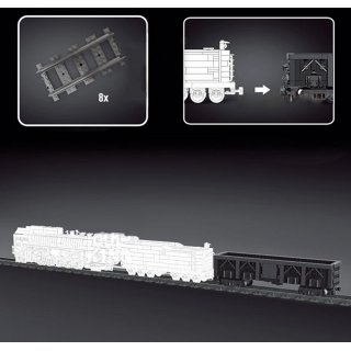 Mould King 12003CX Eisenbahn Anhänger