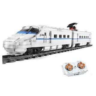 Mould King 12002 Eisenbahn CRH2 Hochgeschwindigkeitszug Klemmbaustein