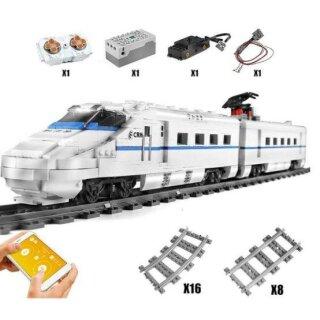 Mould King 12002 Eisenbahn CRH2 Hochgeschwindigkeitszug
